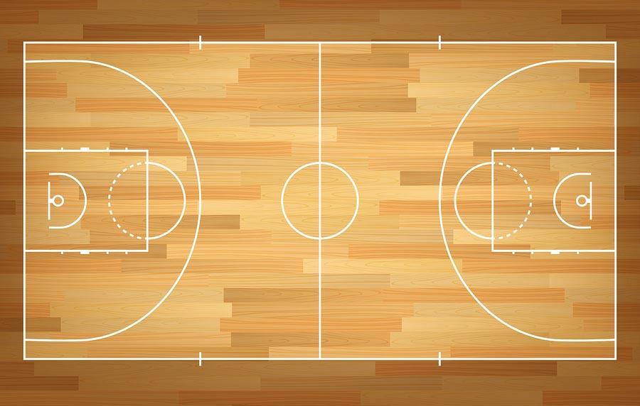 Medidas de la cancha de basquetbol