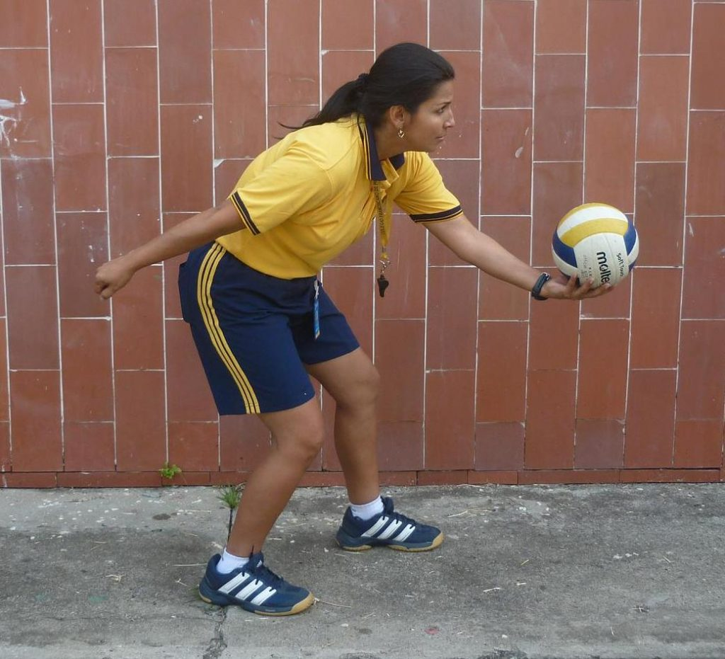 Saque de seguridad en voleibol