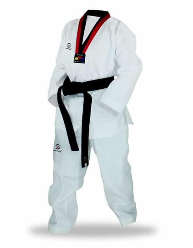 Sporting Goods Adidas Wtf Dobok Palo Traje Taekwondo Gi Adulto Niño Blanco Y Negro