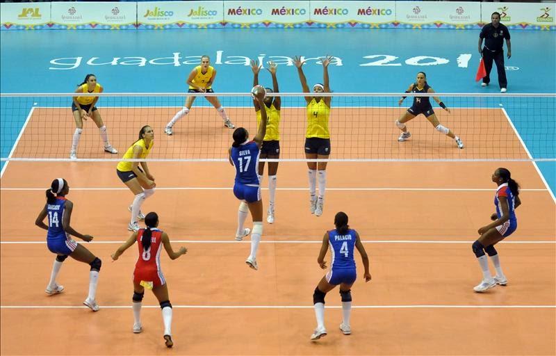 posiciones de rebelión y valla linear unit voleibol