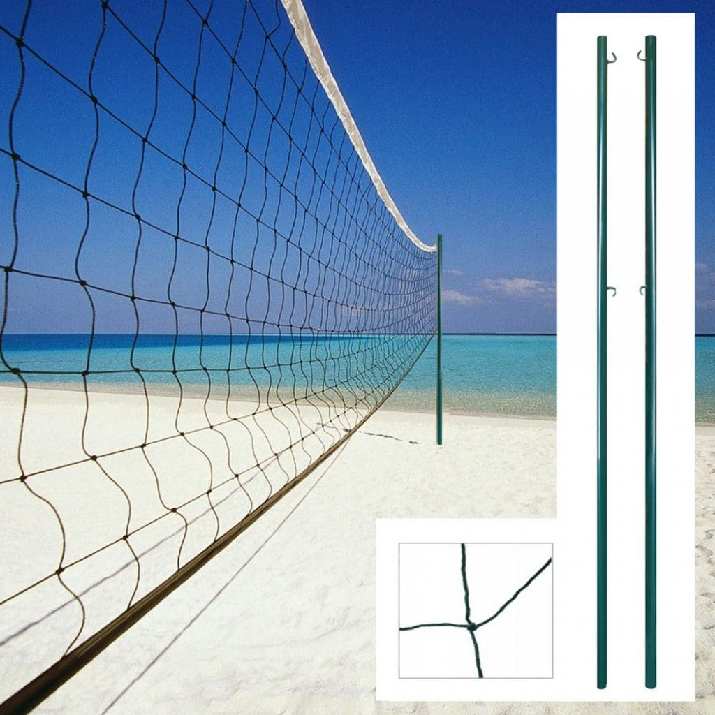 conoce cuál es la altura de la red de voleibol
