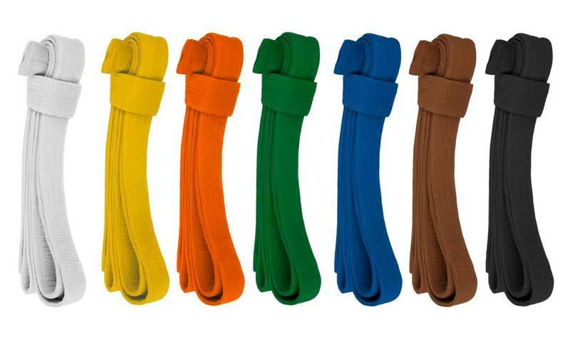 colores de los cinturones del judo