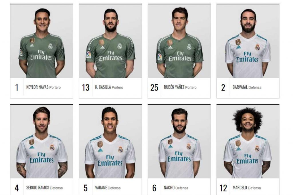 Clud de futbol real madrid-jugadores