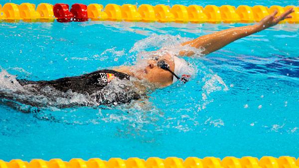 entrenamiento de natación